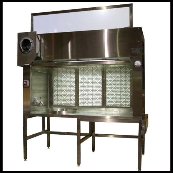 HEPA Filtered Horizontal Flow Powder Extraction Hood